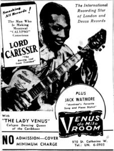 Caresser at the Venus de Milo Room, September 1956