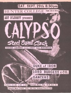 Steel Band Clash Flier