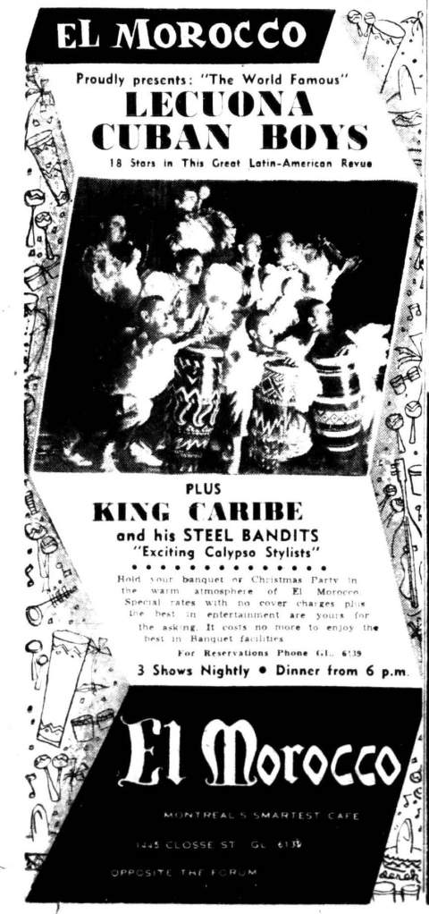 King Caribe at the El Morocco