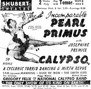 """Pearl Primus in """"Calypso"""""""