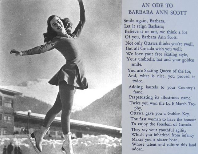 Ode to Barbara Ann Scott