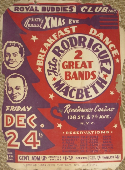 Poster for an all-night Christmas Eve
